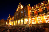 University of Groningen at night — Stock Photo