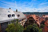 View on the red roofs in Marburg city — Stock Photo