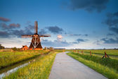 Charming windmill in morning sunshine — Stock Photo