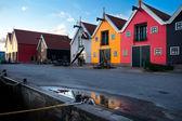 Colorido edificio en zoutkamp, groningen — Foto de Stock