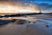Fyren på nordsjön i ijmuiden — Stockfoto