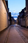 Street in Dutch city at night — Stock Photo