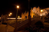 Plaza de Espana at night, Seville — Stock Photo