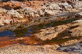 Acidic rio Tinto in Andalucia — Stock Photo