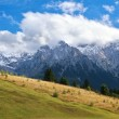 Stock Photo: Clouds on mountain peaks, Bavaria
