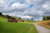 Farmland in Bavarian Alps — Stock Photo