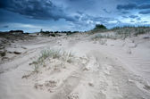 Clouds over sand dunes in Netherlands — Stock Photo