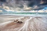 Havets vågor med lång exponering — Stockfoto