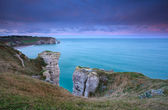 Cliffs in France during sunrise — Stock Photo