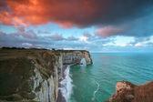 Sunrise over cliffs in Alabaster Coast — Stock Photo