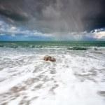 Storm at Atlantic ocean coast — Stock Photo