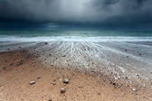 Storm on Atlantic ocean coast — Photo