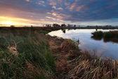 Sonnenaufgang über dem Wildbach — Stockfoto