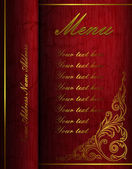 Vintage menu folder — Stock Vector