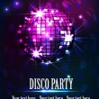 Stock Vector: Background disco party