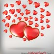 Valentin`s Day Card With Hearts — Stock Vector