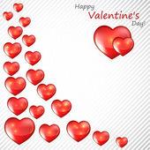 Tarjeta del día de valentín con corazones — Vector de stock