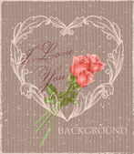 Vintage background valentine's day — Stockvektor
