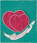 Vintage background valentine's day — Stock vektor