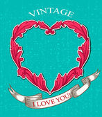 Vintage background valentine's day — Vecteur