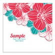 Flower card — Stock Vector #24599201