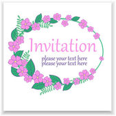 Cartão da flor — Vetorial Stock