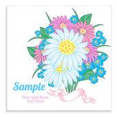 çiçek kartı — Stok Vektör