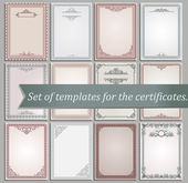 Certificate templates — Vector de stock