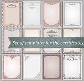 Plantillas de certificado — Vector de stock