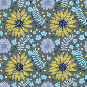 Seamless floral pattern — Vetorial Stock