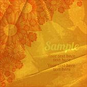 Bright flower card — Stock Vector