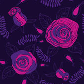 Seamless pattern with roses — Stockvector
