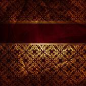 Vintage red brown floral background — Stock Vector