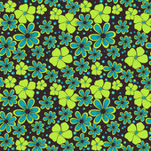 Seamless pattern di fiori gialli e blu — Vettoriale Stock