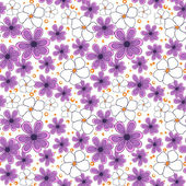 Seamless pattern with violet flowers — Stock Vector