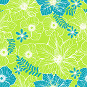 ライト グリーン ブルー シームレスなパターン — ストックベクタ