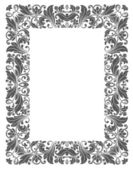 Vintage frame with floral elements — Vector de stock