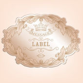Vintage label with design elements — Stock Vector