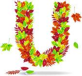 Autumn letter — Stock Vector