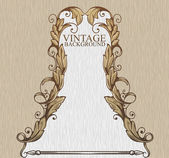 Vintage background with design elements — Stock Vector