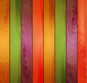 Colored wooden background — Stock Vector