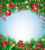 圣诞背景与冷杉分支 — 图库矢量图片