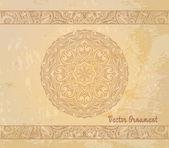 Ethnic vintage ornament — Stock Vector