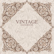 Hand drawn vintage card — Stock Vector