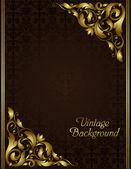 Vintage gouden frame — Stockvector