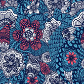Seamless flower pattern — Vecteur