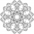 Ornamental round lace pattern — Vector de stock