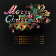 Hand-drawn Christmas banner — Stock Vector