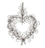 Heart drawn ornamental — Vector de stock