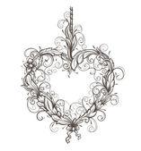 Heart drawn ornamental — Stock Vector